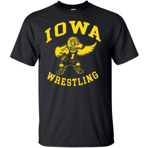 Iowa Hawkeyes Wrestling Herky Golden Grappler Tee