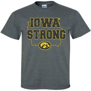 Iowa Hawkeyes Iowa Strong Charcoal Tee - Short Sleeve